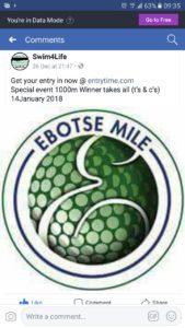 Ebotse Swim 14 Jan 2018